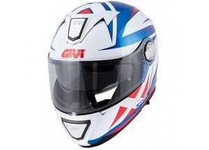 Helm Modular Geöffnet Givi X.23 Sydney Pointed Metall Blau Weiß Rot