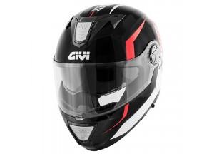 Helm Modular Geöffnet Givi X.23 Sydney Viper Matt Schwarz Orange
