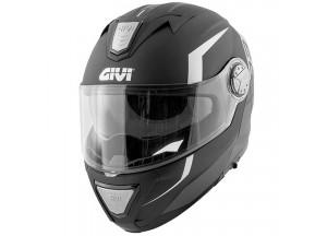Helm Modular Geöffnet Givi X.23 Sydney Viper Matt Schwarz Silber