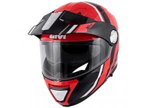 Helm Modular Geöffnet Givi X.33 Canyon Division Rot Schwarz