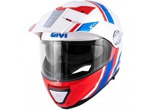 Helm Modular Geöffnet Givi X.33 Canyon Division Weiß Rot Blau
