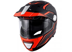 Helm Modular Geöffnet Givi X.33 Canyon Layers Matt Schwarz Orange