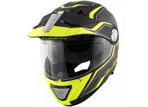 Helm Modular Geöffnet Givi X.33 Canyon Layers Matt Schwarz Gelb