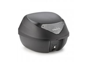 K29NT - Kappa MONOLOCK Topcase schwarz mit transparenten Reflektoren 29 L.