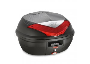 K355N - Kappa MONOLOCK Topcase schwarz mit roten Reflektoren 35 L.