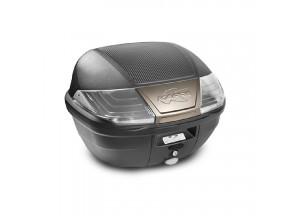 K400NT - Kappa MONOLOCK Topcase schwarz mit transparent Reflektoren 40 L.