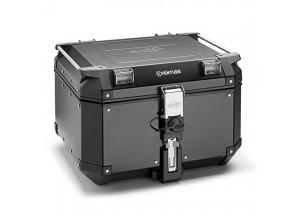 KVE48BN - Kappa MONOKEY® Topcase 48 L. K-VENTURE aus 1,5 mm Schwarz Aluminium