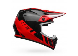 Helm Bell Off-road Motocross Mx-9 Mips Dash Glänzend Rot Schwarz