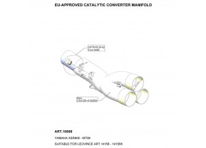 16008 - Auspuffkrümmer LeoVince katalysierten YAMAHA MT-09 / FZ-09 / XSR 900