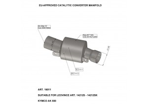 16011 - Auspuffkrümmer LeoVince Katalytisch  Kymco AK 550 (17-18)