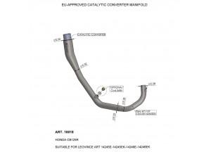 16018 - Auspuffkrümmer LeoVince katalysierten EU-Approved HONDA CB 125 R (18-19)