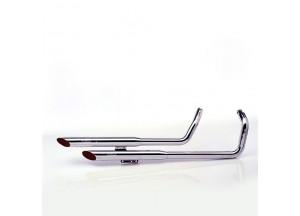 2212 - Komplette Abgasanlage Leovince SilverTail K02 Honda VT 750 C2 ACE SHADOW