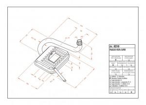 0210 - Auspufftopf Leovince Sito 2-Takt VESPA SUPER