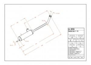 0218 - Schalldaempfer Leovince Sito 2-Takt Piaggio CIAO - P - PX