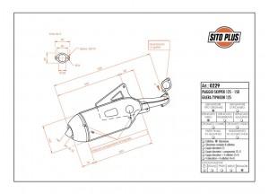 0229 - Schalldaempfer Leovince Sito 2T Piaggio SKIPPER Gilera TYPHOON RUNNER