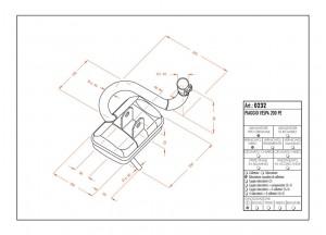0232 - Schalldaempfer Leovince Sito 2-Takt VESPA 200 PE