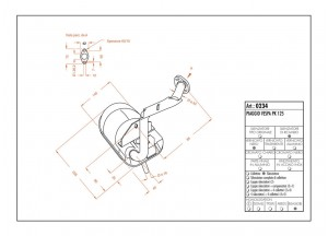 0234 - Schalldaempfer Leovince Sito 2-Takt VESPA PK 125
