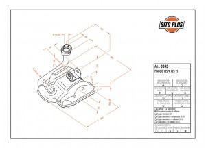 0243 - Schalldaempfer Leovince Sito 2-Takt VESPA 125 T5