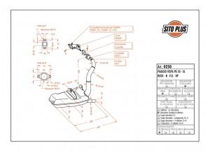 0250 - Schalldaempfer Leovince Sito 2T VESPA PK 50 - XL - RUSH - N - FL2 - HP