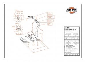 0251 - Schalldaempfer Leovince Sito 2-Takt VESPA PK 125 VESPA XL