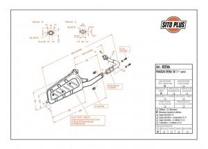 0256 - Schalldeampfer Leovince Sito 2-Takt Piaggio SFERA 50 (1a serie < 1994)