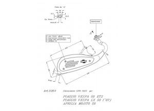 0264 - Schalldaempfer Leovince Sito 2-Takt Aprilia MOJITO 50 VESPA LX 50 ET2