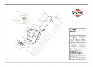 0560 - Schalldaempfer Leovince Sito 2-Takt Peugeot FOX