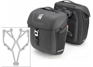 Satteltaschen Givi MT501 + Abstandshalter für Yamaha XSR700 (16)