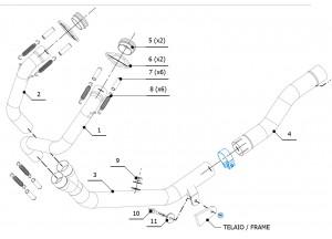 H.059.C1 - Exhaust Auspuffkrümmer Mivv HONDA CRF 1000 L AFRICA TWIN (2016 >)