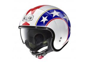 Helm Jet Nolan N21 Old Glory 90 Metallic Weiß