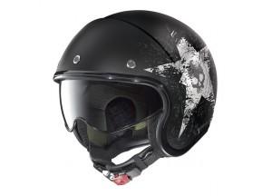 Helm Jet Nolan N21 Star Skull 70 Matt Schwarz