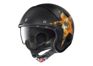 Helm Jet Nolan N21 Star Skull 71 Matt Schwarz