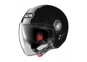 Helm Jet Nolan N21 Visor Joie De Vivre 40 Metal Schwarz