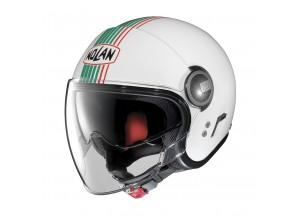 Helm Jet Nolan N21 Visor Joie De Vivre 43 Metal Weiß