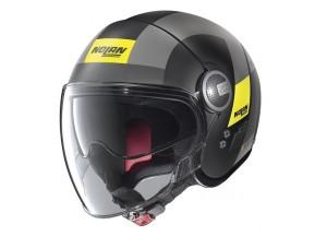 Helm Jet Nolan N21 Visor  Spheroid 49 Matt Schwarz