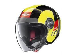 Helm Jet Nolan N21 Visor  Spheroid 47 Led Gelb