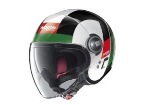 Helm Jet Nolan N21 Visor  Spheroid 45 Metal Weiß