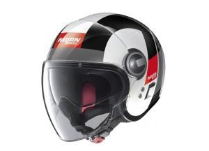 Helm Jet Nolan N21 Visor  Spheroid 46 Metal Weiß