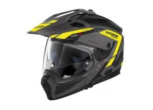 Integral helm Crossover Nolan N70.2 X Grandes Alpes 23 Flat Lava Grau