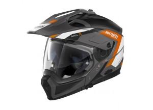 Integral helm Crossover Nolan N70.2 X Grandes Alpes 24 Flat Lava Grau