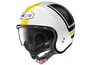 Helm Jet Nolan N21 Flybridge 86 Metal Weiß Schwarz Gelb