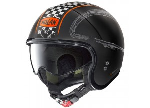 Helm Jet Nolan N21 Getaway 83 Matt Schwarz Orange