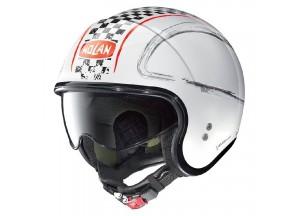 Helm Jet Nolan N21 Getaway 81 Metal Weiß
