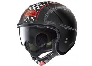 Helm Jet Nolan N21 Getaway 84 Matt Schwarz Rot
