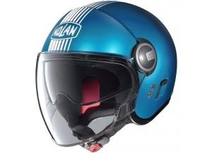Helm Jet Nolan N21 Visor Joie De Vivre 68 Sapphire Blau Matt