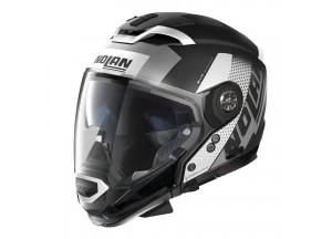 Integral helm Crossover Nolan N70.2 GT CELERES N-COM 30 Matt-Schwarz Weiß