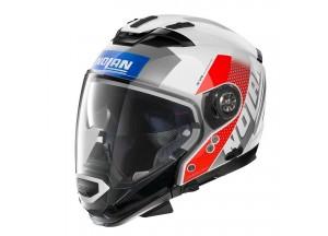 Integral helm Crossover Nolan N70.2 GT CELERES N-COM 33 Metal Weiß Blau Rot