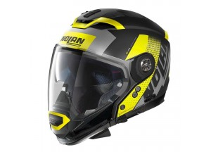 Integral helm Crossover Nolan N70.2 GT CELERES N-COM 32 Matt-Schwarz Gelb
