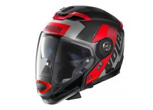 Integral helm Crossover Nolan N70.2 GT CELERES N-COM 31 Matt-Schwarz Rot