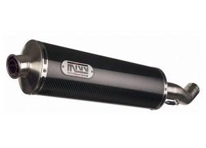 S.008.LE - Schalldämpfer Auspuff Mivv Oval Carbon Suzuki GSF 1200 Bandit 01/03